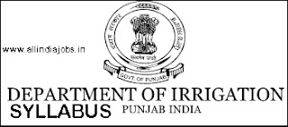 Punjab Irrigation Dept SDE Syllabus