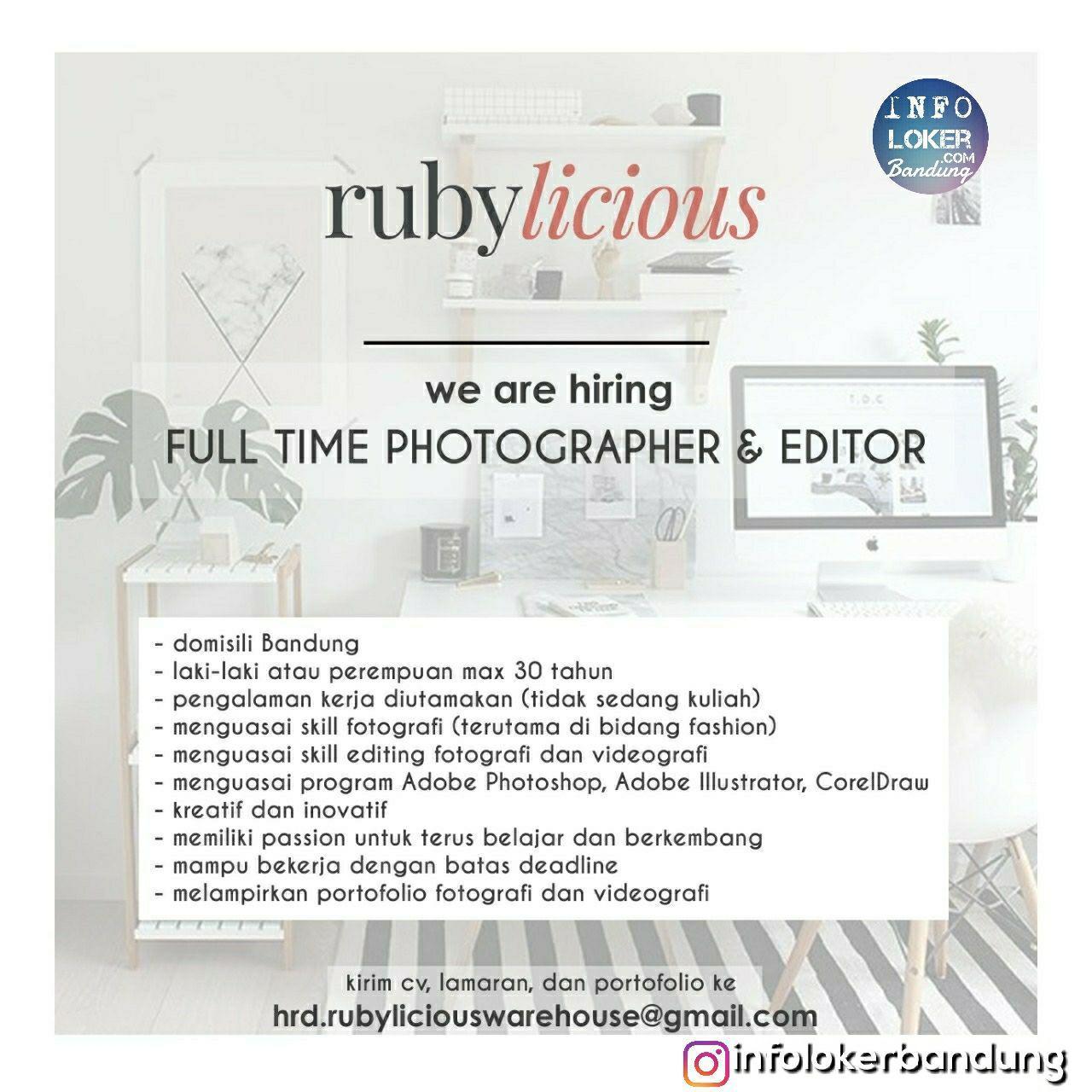 Lowongan Kerja Rubylicious Bandung November 2018