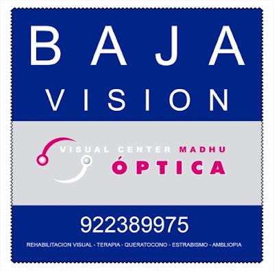 imagen con logo Visual Center Madhu y nñumero de teléfono