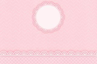 Para hacer invitaciones, tarjetas, marcos de fotos o etiquetas, para imprimir gratis de Encaje Rosa.