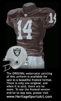 Oakland Raiders 2007 uniform