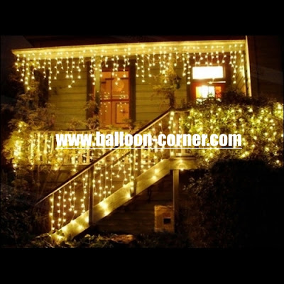 Warm White LED Curtain Lights / Lampu Tirai LED Warm White
