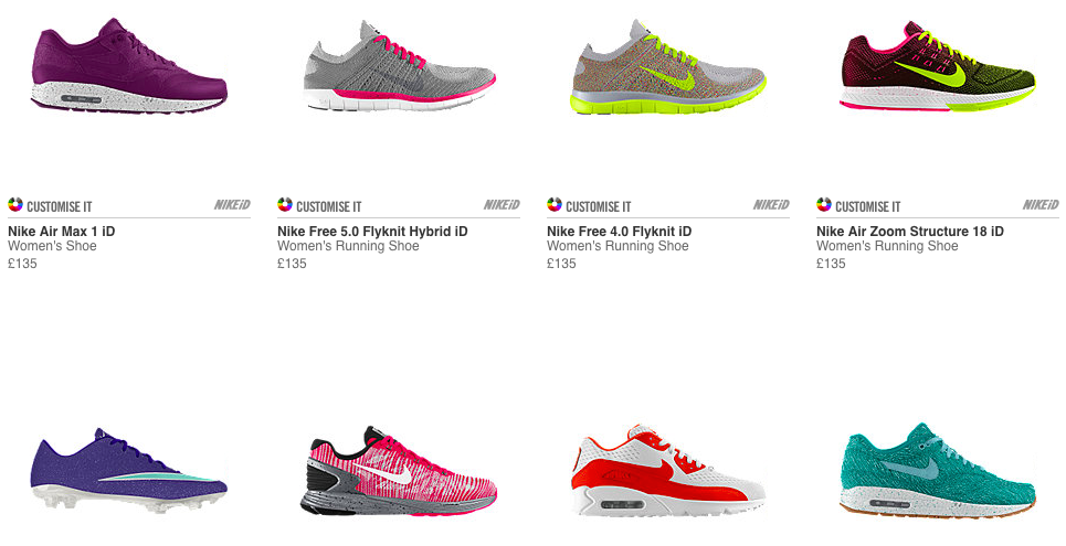 competitive price 7bf1f 9070f Personalised Nike Trainers and Bags - NIKEiD customising starts at £70