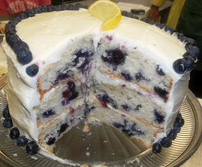 It S All About A Good Recipe Blueberry Cake With Lemon
