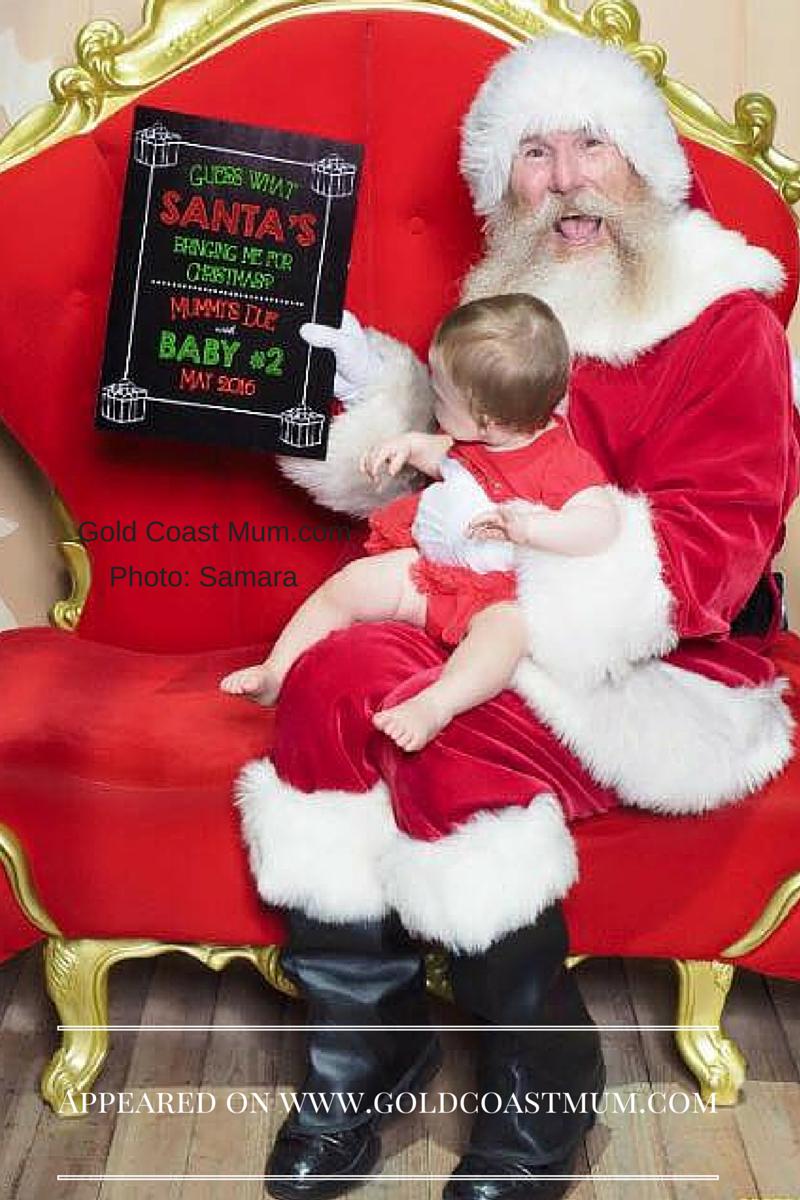 Cute Christmas Pregnancy Announcement Gold Coast Mum