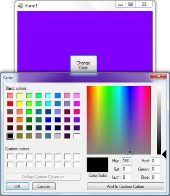 How to Use ColorDialog in C# Change Background of Form