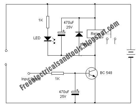 Free Schematic Diagram: Transistor Relay Driver Circuit