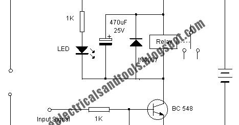 Free Schematic Diagram: Transistor Relay Driver Circuit