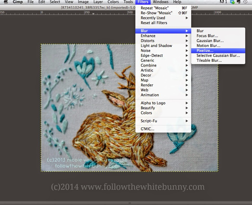 Follow the White Bunny: How to Pixelate a Photo (without using