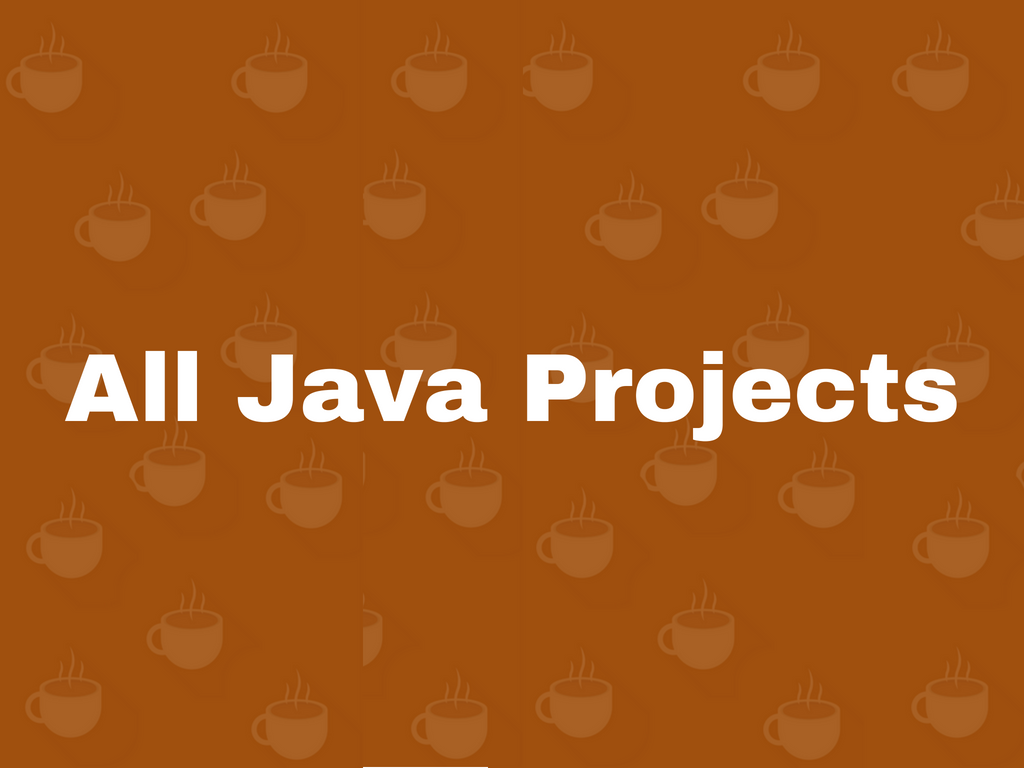 all java projects
