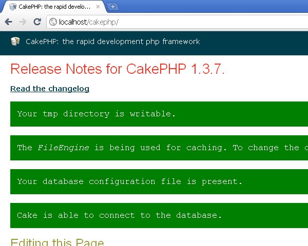 CakePHP on IIS - After configuration