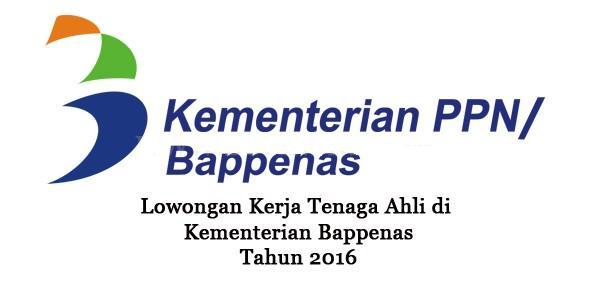KEMENTERIAN PPN/BAPPENAS : TENAGA AHLI/TENAGA CONSULTANT - PNS, INDONESIA