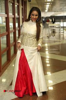 Telugu Actress Sri Reddy Mallidi Stills in White Beautiful Dress at Marriage Needs Bridal Fashion Week 2017 Logo Launch  0034.JPG