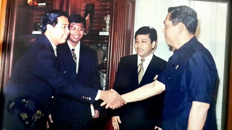 Setya Novanto bersama Wakil Presiden saat itu, Try Sutrisno