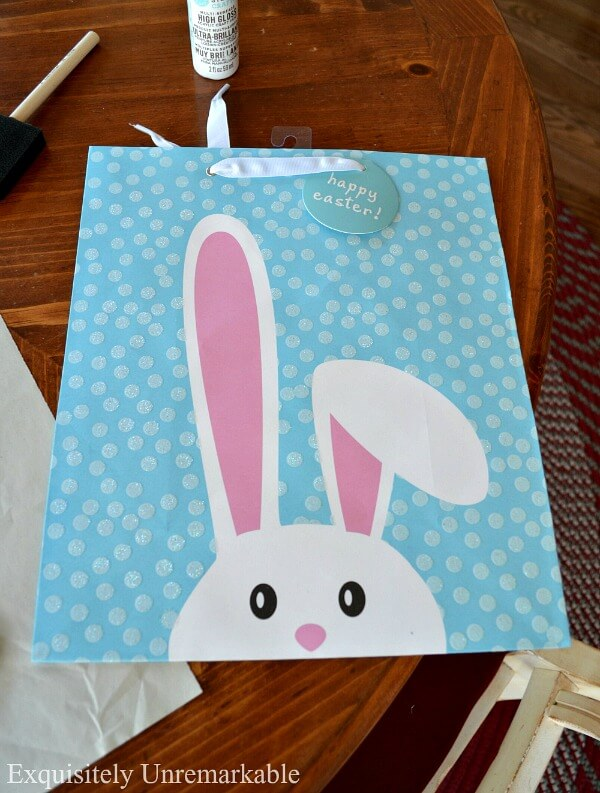 Easter Bunny Wooden Sign Craft