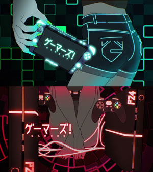 Eyecatches of Gamers! ゲーマーズ! anime.