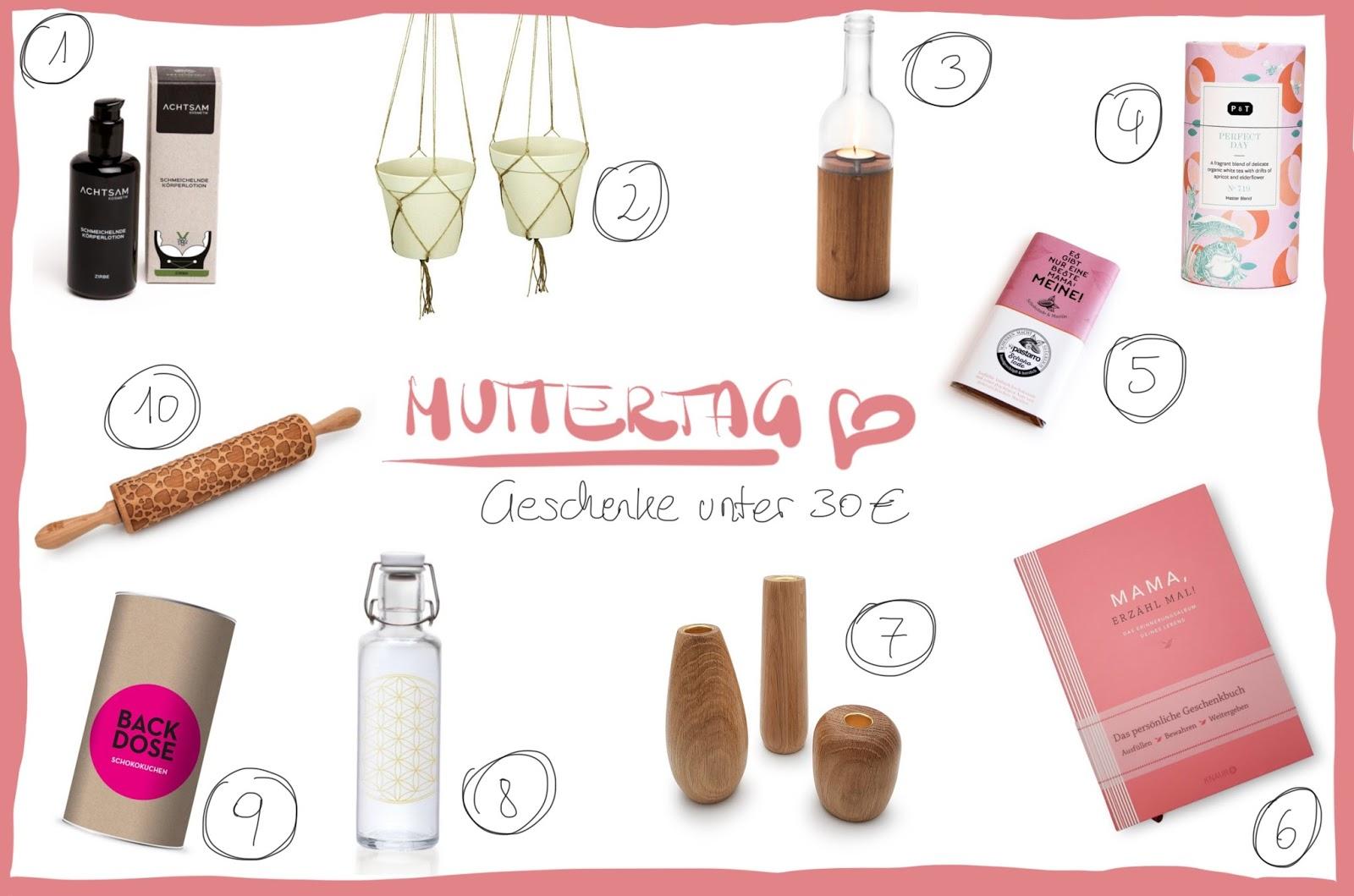 Geschenke unter 30 Euro: 10 besondere Ideen zum Muttertag / WOHN:PROJEKT