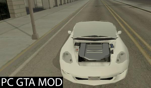Free Download Ruf RK Spyder (SA StyleLow Poly)  Mod for GTA San Andreas.