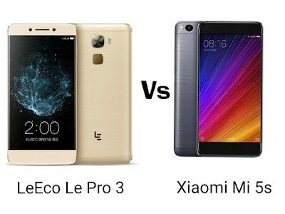 LeEco Le Pro 3 Vs Xiaomi Mi 5s