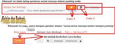 Cara Posting Blog Lengkap Dengan Gambar