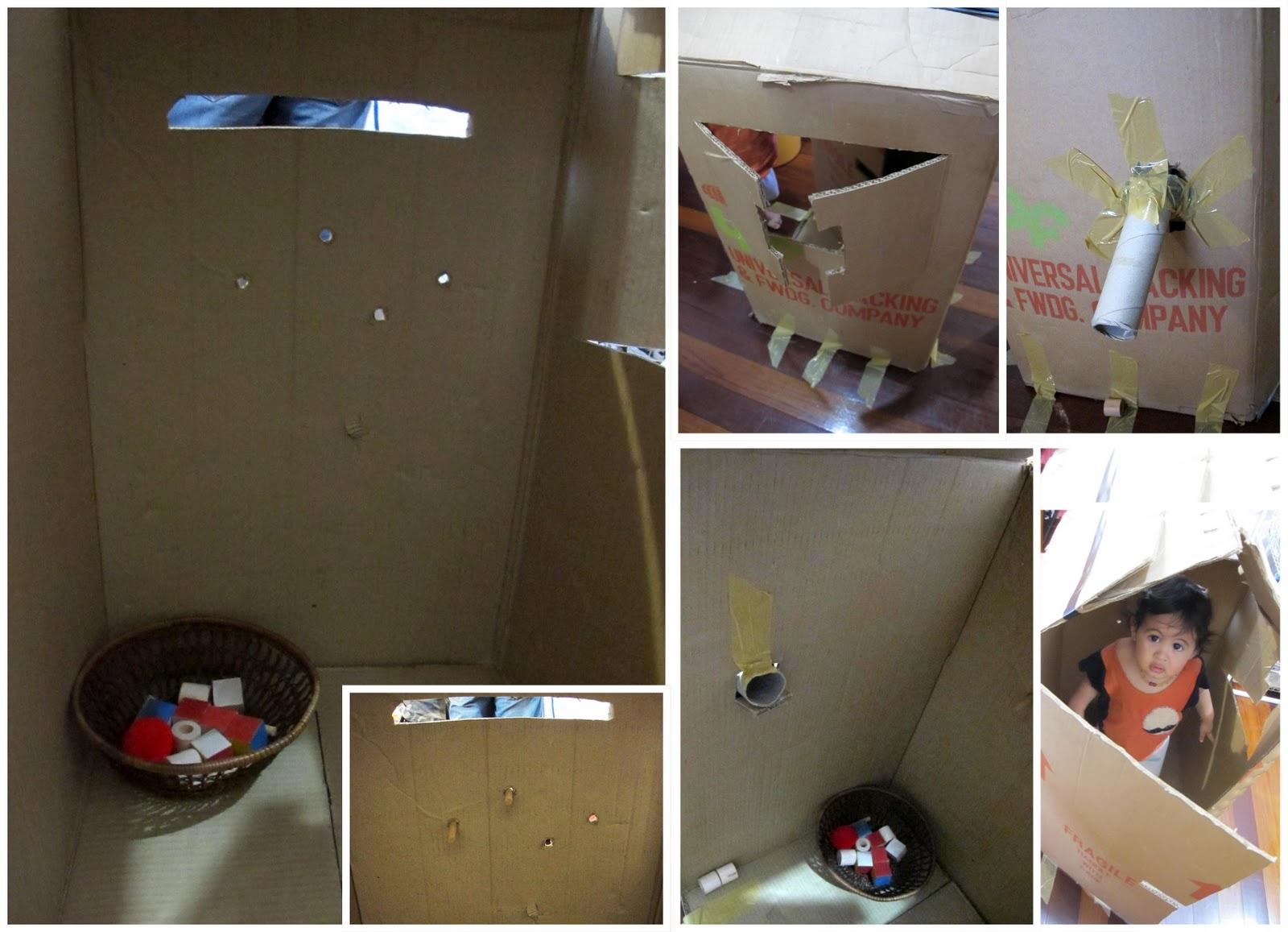 rabbit the penguin living in a cardboard box. Black Bedroom Furniture Sets. Home Design Ideas