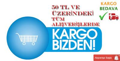 Hafta Sonu Kampanyasında 50 Tl ve Üzerindeki Alışverişlerde Kargo Ücretsiz.