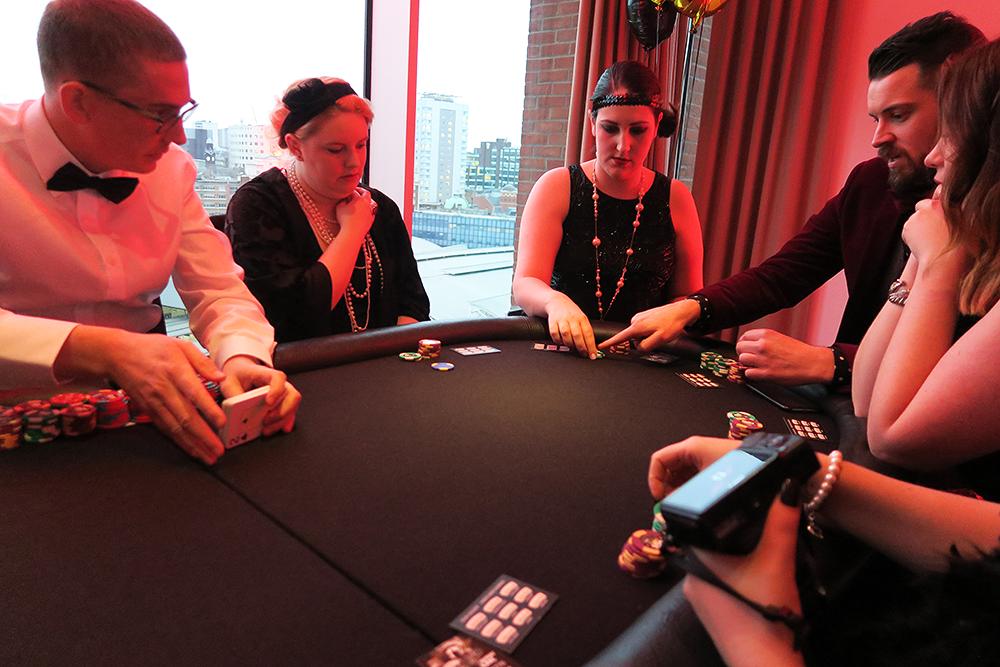 Poker table at the Ladbrokes Great Gatsby Casino Night - #HoldEm4Charity