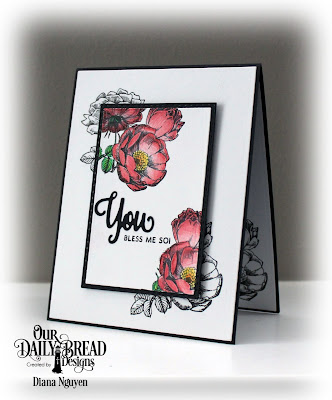 Diana Nguyen, You Bless Me So, Our Daily Bread Designs, Fragrance, rose, cas, card