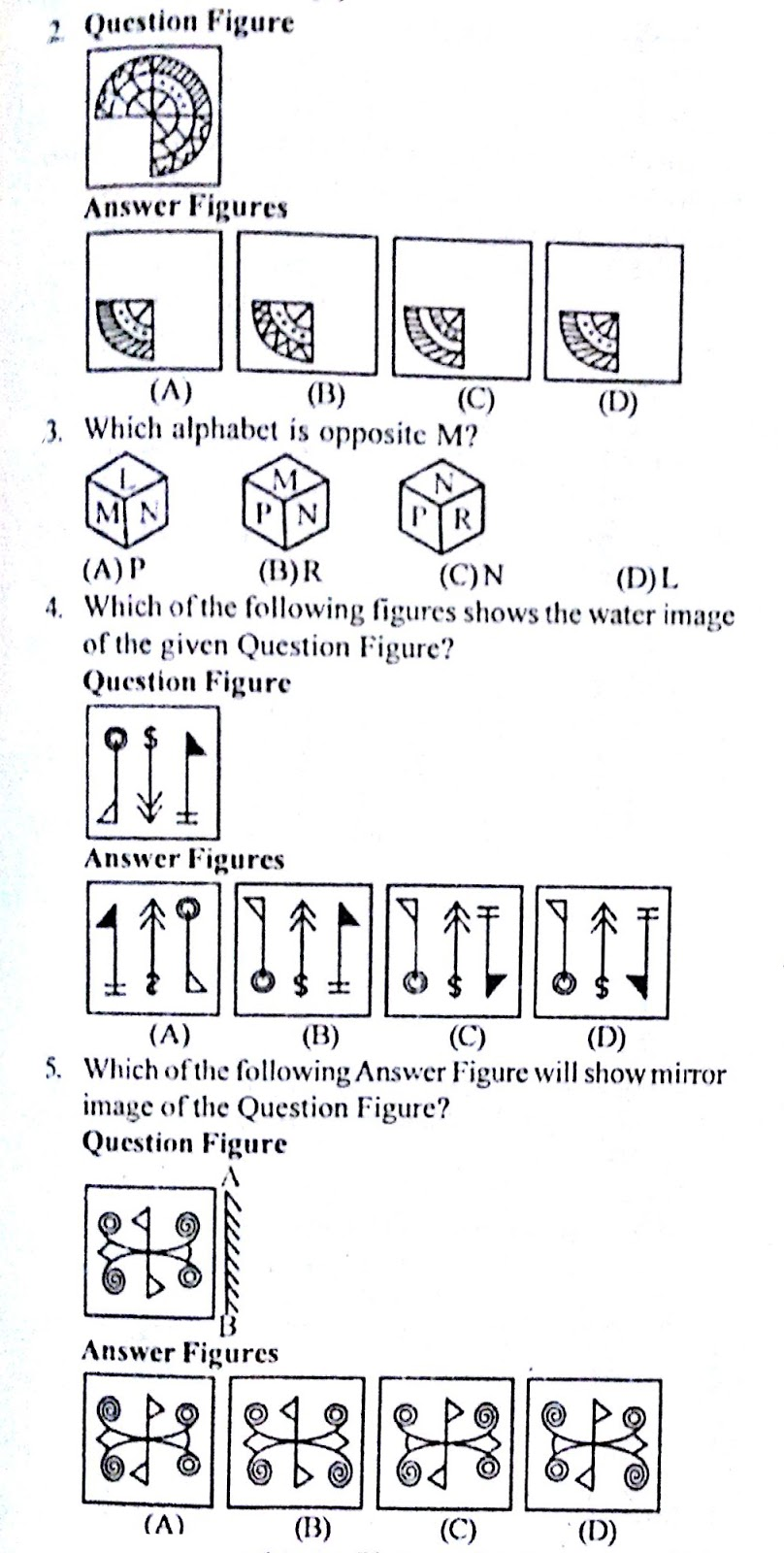 Practice Reasoning Questions (Non Verbal) with Answers