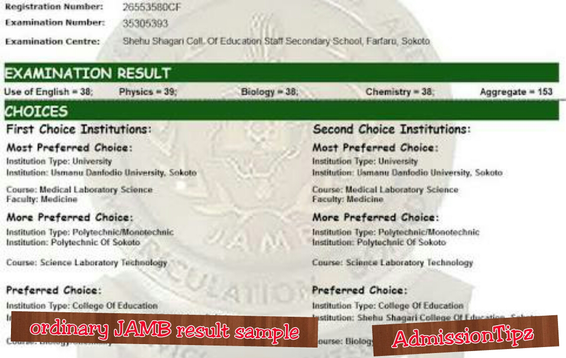 The Neighborhood 2018 Jamb Result online Www 2018