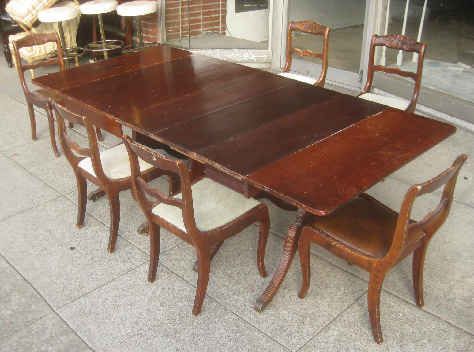 Pleasant Duncan Phyfe Dining Table Chairs Tyres2C Home Interior And Landscaping Ologienasavecom