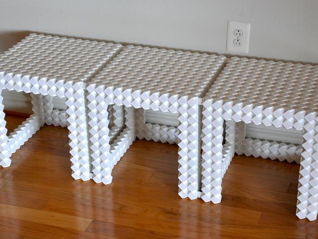 Diy 3d Printing 3d Printable Modules For Full Size Diy Furniture