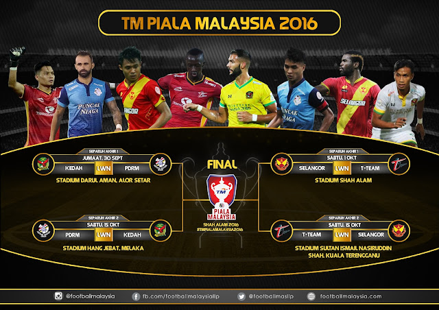 Preview : Separuh Akhir Piala Malaysia 2016