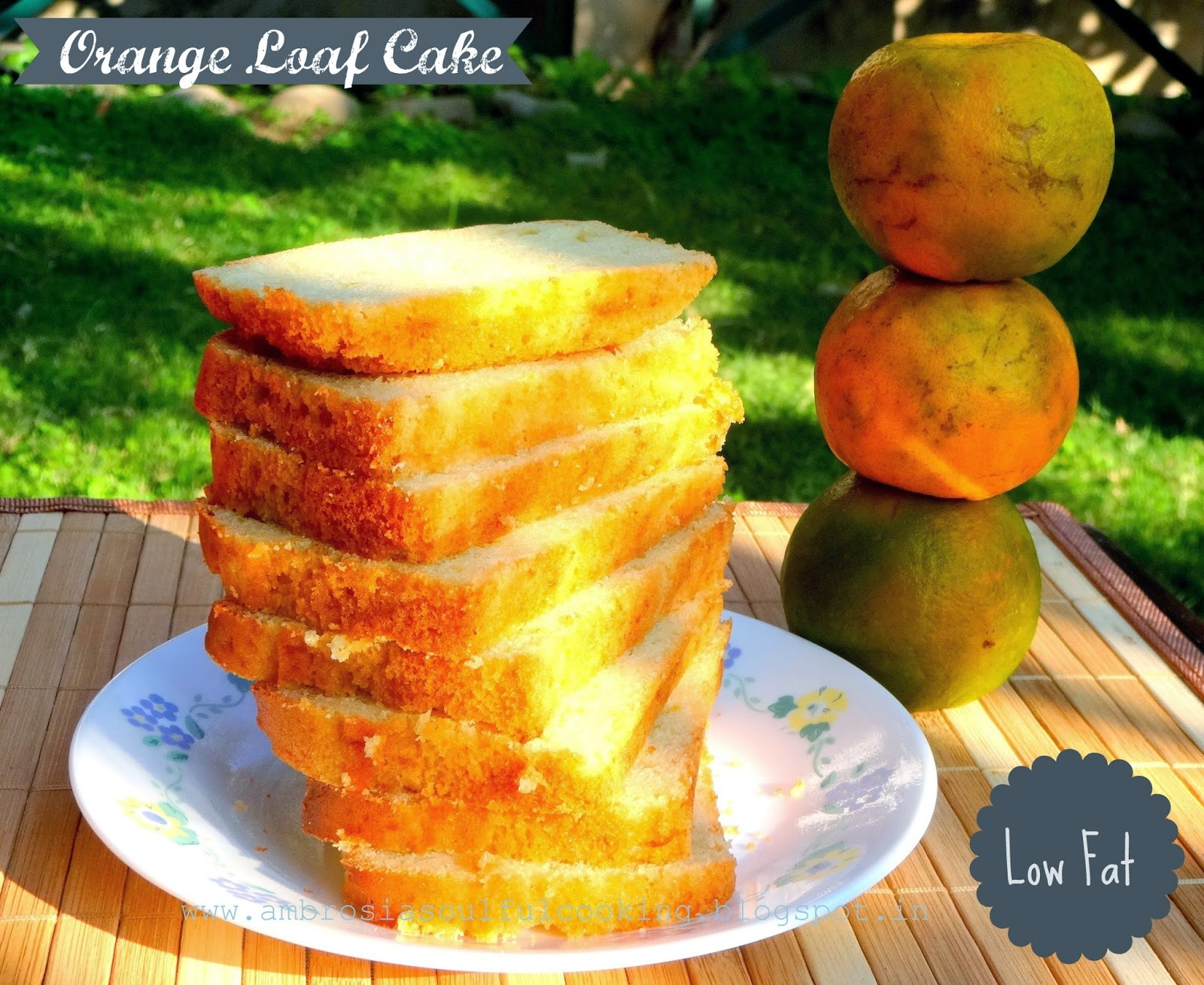Low Fat Orange Loaf Cake