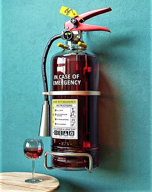In case of emergency - Wine fire extinguisher