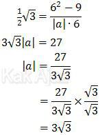 Penentuan panjang vektor a dengan rumus kosinus sudut antara 2 vektor a dan c