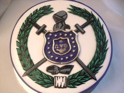 Made Fresh Daily Omega Psi Phi Shield Cake
