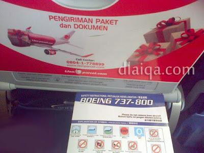 panduan penumpang, Boeing 737-800