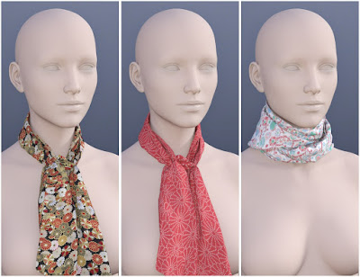 Scarves for Genesis 3 Female