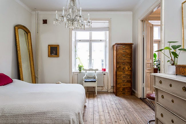 24 fotos quartos de casal estilo n rdico decora o e ideias - Que poner encima de una comoda ...