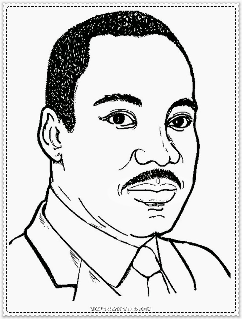 Martin Luther King Jr Coloring Sheet