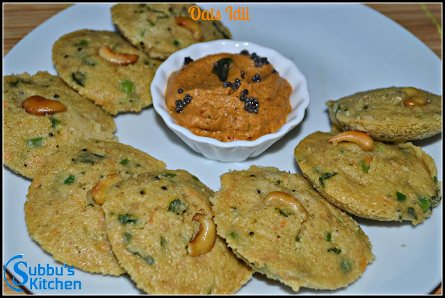 Instant Vegetable Oats Idli