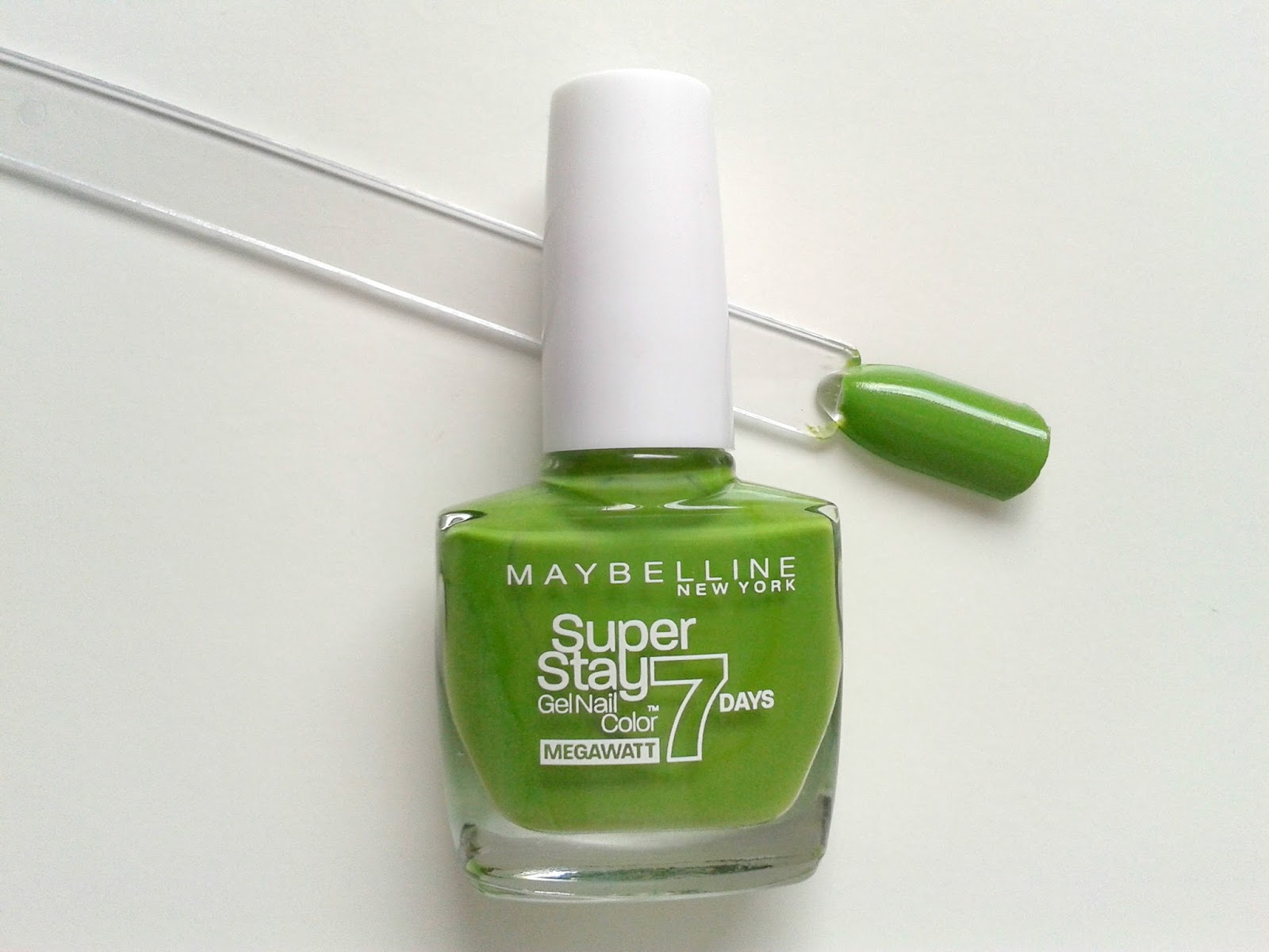 Maybelline New York Super Stay 7 Days Gel Nail Colours Beauty Review Lime me up Swatch