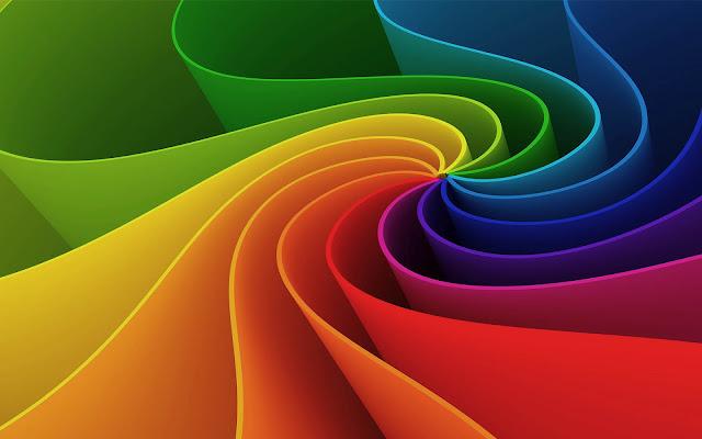 Mooie kleurrijke abstracte wallpaper in 3D