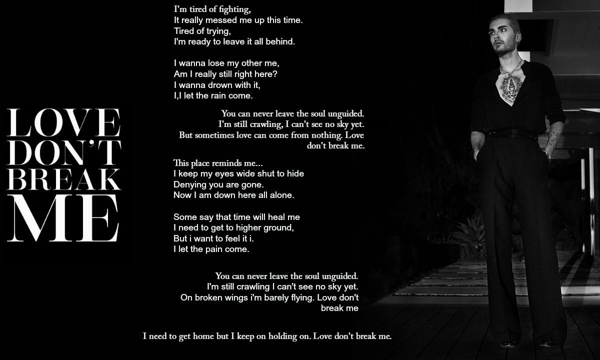 Billy Love Dont Break Me Official Lyrics