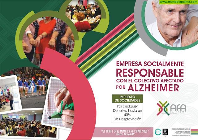 AFA La Palma quiere formar alianzas con empresas socialmente responsables con el colectivo afectado por el Alzheimer