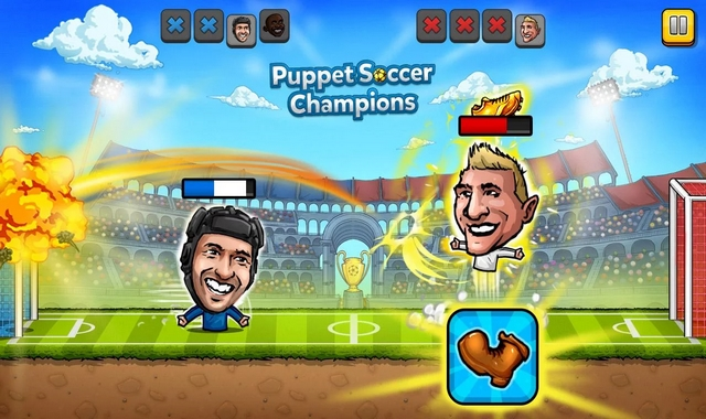 Puppet Soccer Champions Fighters League Mod apk indir
