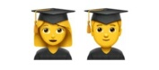 Female/Male Student emoji Hindi Meaning