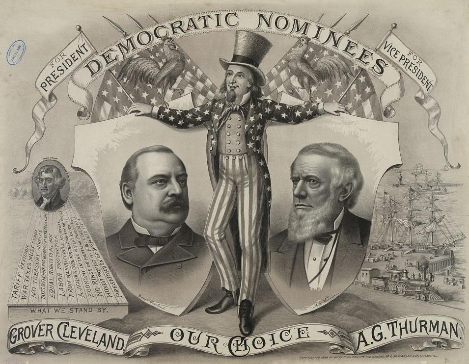 the life and the political career of the american president grover cleveland Early life benjamin harrison was harrison resumed his political career harrison was nominated on the eighth ballot to run against president grover cleveland.