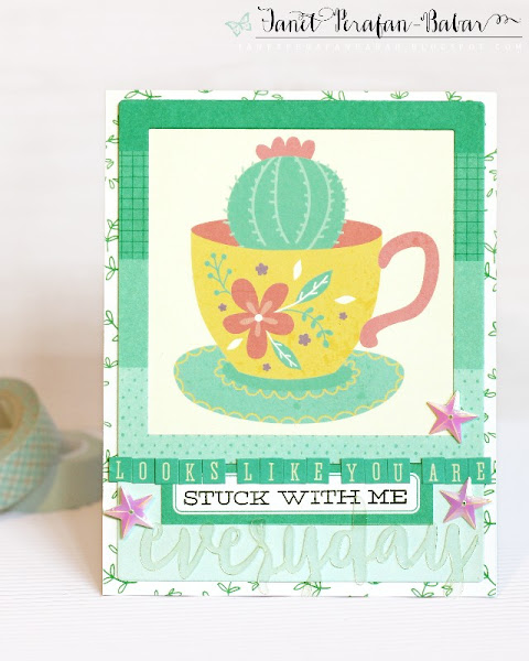 Card by Janet Perafan-Babar: Clique Kits La Dolce Vita June 2016 Kit | My Favorite Things: Sweet Succulents Stamp, Polaroid Cover Up